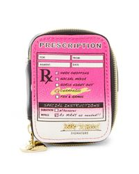 Betsey Johnson | Multicolor Faux Leather Pill Case | Lyst