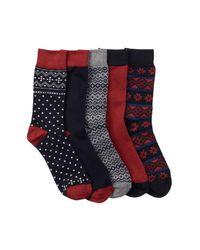 Ben Sherman - Blue Original Crew Sock Gift Box - Pack Of 5 for Men - Lyst