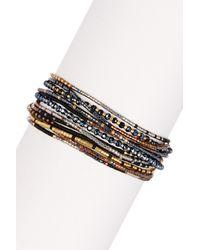 Chan Luu | Waved Beaded Wrap Bracelet - Mystic Black Mix | Lyst