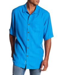 Tommy Bahama - Blue Belize Short Sleeve Original Fit Shirt (big & Tall) for Men - Lyst