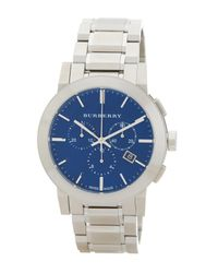 Burberry   Metallic Men's Chronograph Bracelet Watch for Men   Lyst