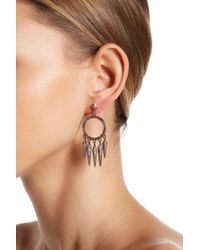 House of Harlow 1960 | Multicolor Vibratio Pave Circulare Fringe Drop Earrings | Lyst
