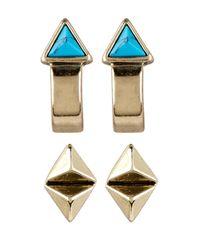 House of Harlow 1960 | Multicolor Telluride Hoop & Stud Earrings Set | Lyst