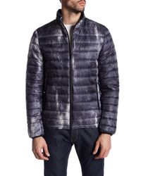 Antony Morato | Blue Quilted Pattern Coat for Men | Lyst