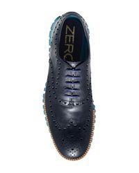 Cole Haan - Blue Zerogrand Wingtip Oxford for Men - Lyst