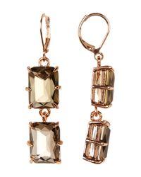 Vince Camuto   Multicolor Double Emerald-cut Drop Earrings   Lyst
