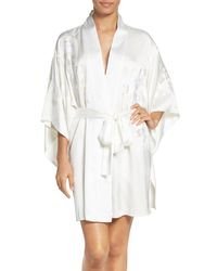 Natori | White Orchid Embroidered Wrap | Lyst