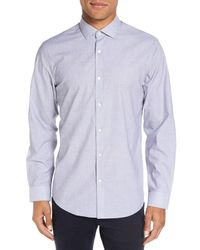 Calibrate | Blue Trim Fit End On End Dobby Sport Shirt for Men | Lyst