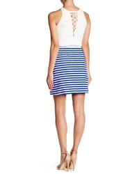 Clover Canyon - Blue Striped Suiting Skirt - Lyst