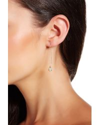 Cole Haan - Natural 12k Gold Plated Stone Drop Threaded Earrings - Lyst