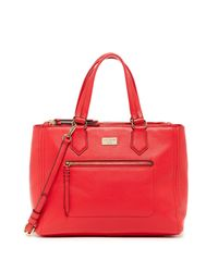 Cole Haan - Red Ellie Large Leather Satchel - Lyst
