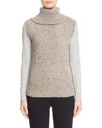 Nordstrom Collection | Gray Wool & Cashmere Turtleneck Sweater Vest | Lyst