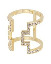 Ariella Collection - Metallic 14k Gold Plated Open Work Ring - Lyst