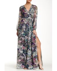 Diane von Furstenberg - Black Celia Printed Silk-chiffon Maxi Dress - Lyst
