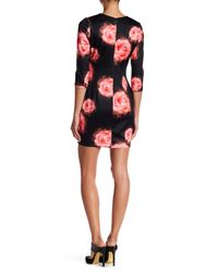 Alexia Admor - Multicolor 3/4 Length Sleeve Floral Print Dress - Lyst