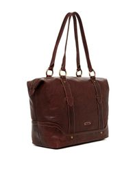 Frye - Brown Campus Leather Zip Tote - Lyst