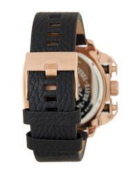 DIESEL | Multicolor Men's Analog Leather Strap Watch for Men | Lyst