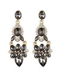 Cara - Metallic Large Hinged Drop Earrings - Lyst