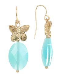 Sparkling Sage - Multicolor Butterfly Drop Earrings - Lyst