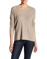Madewell - Natural Hi-lo Knit Pullover Sweater - Lyst