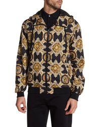 Versace | Black Baroque Zip Jacket for Men | Lyst