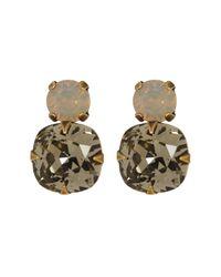 Sorrelli - Gray Crystal Stud Drop Earrings - Lyst