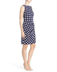 Eliza J - Blue Spotted From A Distance Dress - Lyst