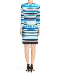 Eliza J - Blue Print Jersey Shift Dress - Lyst