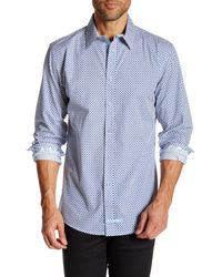 English Laundry | Blue Curlicue Long Sleeve Regular Fit Shirt for Men | Lyst