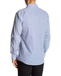 English Laundry - Blue Curlicue Long Sleeve Regular Fit Shirt for Men - Lyst