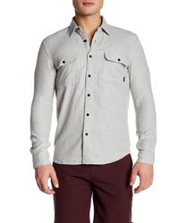Quiksilver | Gray Collared Long Sleeve Slim Fit Shirt for Men | Lyst
