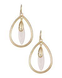 Cara - Multicolor Charm Teardrop Dangle Earrings - Lyst
