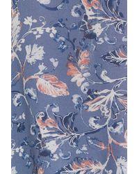 Ella Moss | Blue Dreamer Wildflower Silk Top | Lyst