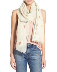 Madewell - Natural 'stitchdot' Scarf - Lyst