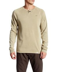 ourCaste | Natural Bolton Long Sleeve Henley Pullover for Men | Lyst