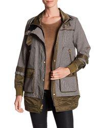 Veronica Beard | Brown Freesia Combo Sleeve Jacket | Lyst
