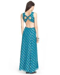 Free People - Blue Cross My Heart Jacquard Maxi Dress - Lyst