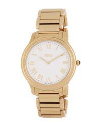 Fendi - Brown Unisex Classico Bracelet Watch - Lyst