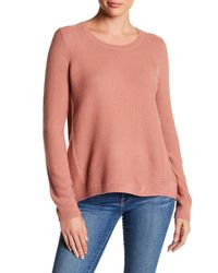 Madewell - Pink Riverside Textured Sweater - Lyst