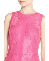Adelyn Rae | Pink Lace Sheath Dress | Lyst