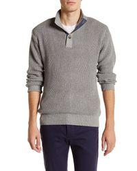 Weatherproof - Black Tuck Stitch Mock Neck Sweater for Men - Lyst