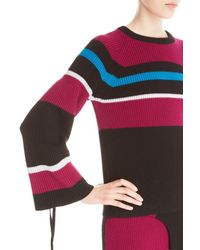 KENZO | Black Colorblock Wool Sweater | Lyst