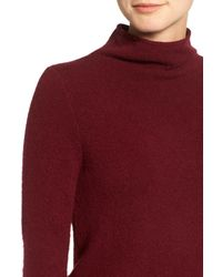 Madewell - Red Rolled Turtleneck Sweater - Lyst
