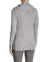 T Tahari - Gray Vivian Knit Jacket - Lyst