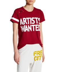 FREE CITY - Red Artists Wanted Crew Neck Tee - Lyst