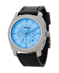 Fossil | Blue Men's Machine Chronograph Quartz Watch for Men | Lyst