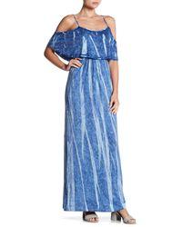 Green Dragon | Blue Cold Shoulder Maxi Dress | Lyst