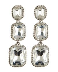 Cara | Metallic Large Triple Drop Earrings | Lyst