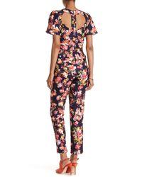 Little Mistress - Multicolor Floral Print Jumpsuit - Lyst