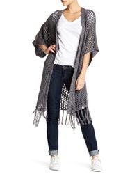 Rip Curl | Gray Wyatt Open Knit Longline Sweater | Lyst